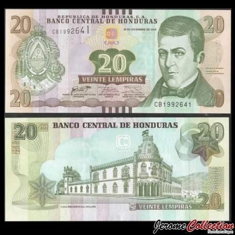 HONDURAS - Billet de 20 Lempiras - 28.12.2016 P100c