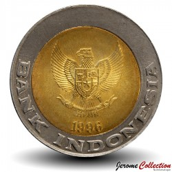 INDONESIE - PIECE de 1000 Rupiah - Palmier - 1993