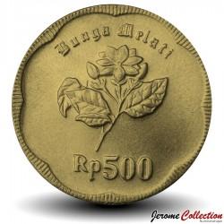 INDONESIE - PIECE de 500 Rupiah - Fleur de Jasmin - 1992 Km#54