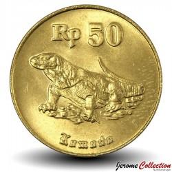 INDONESIE - PIECE de 50 Rupiah - Dragon de Komodo - 1996 Km#52