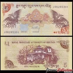 BHOUTAN - Billet de 5 Ngultrum 2011 P28b