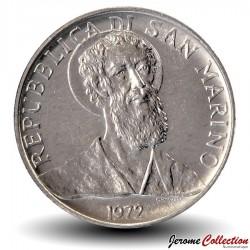 SAINT-MARIN - PIECE de 2 Lires - Portrait de Sanctus Marinus - 1972 Km#15