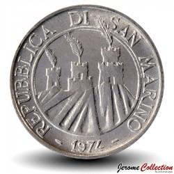 SAINT-MARIN - PIECE de 2 Lires - Scarabée - 1974