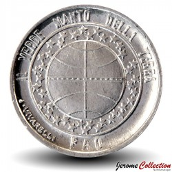 SAINT-MARIN - PIECE de 1 Lires - Globe terrestre - Fao - 1977