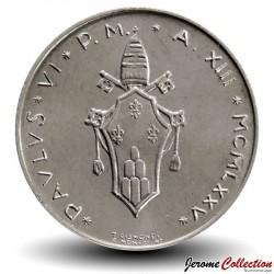 VATICAN - PIECE de 1 Lire - Feuilles de palmier - 1975