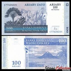 MADAGASCAR - Billet de 100 Ariary / 500 Francs - 2004 / 2016