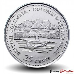 CANADA - PIECE de 25 Cents - Colombie-Britannique - 1992