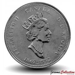 CANADA - PIECE de 25 Cents - Ontario - 1992