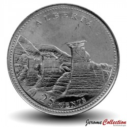 CANADA - PIECE de 25 Cents - Alberta - 1992