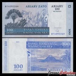 MADAGASCAR - Billet de 100 Ariary / 500 Francs - 2004 / 2008