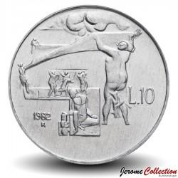 SAINT-MARIN - PIECE de 10 Lires - Protection et éducation des enfants - 1982 Km#134