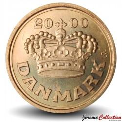 DANEMARK - PIECE de 25 øre - La couronne de Christian V - 2000