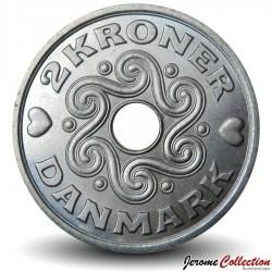DANEMARK - PIECE de 2 Kroner - Monogramme royal - 2000