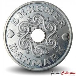 DANEMARK - PIECE de 5 Couronnes Danoises - Monogramme royal - 2000
