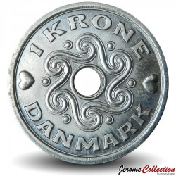 DANEMARK - PIECE de 1 Couronne Danoise - Monogramme royal - 2000