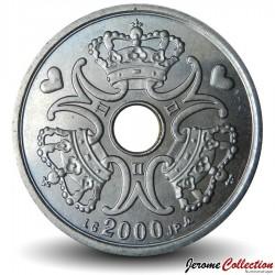 DANEMARK - PIECE de 1 Krone - Monogramme royal - 2000 Km#873