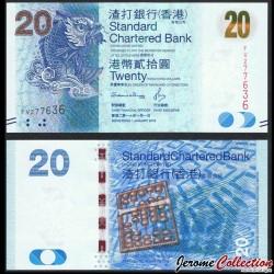 HONG KONG - Standard Chartered Bank - Billet de 20 DOLLARS - Poisson Mythique - 2016 P297e