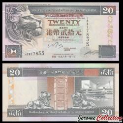 HONG KONG - HSBC - Billet de 20 DOLLARS - Tour de l'horloge - 1998 P201d