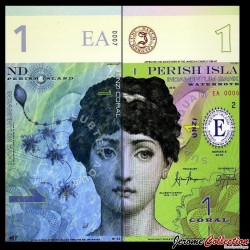 PERISH ISLAND - Billet de 1 CORAL - 2014