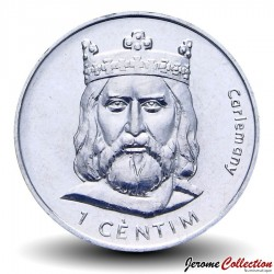 ANDORRE - PIECE de 1 CENTIM - Charlemagne - 2002 Km#176