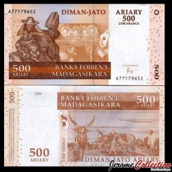 MADAGASCAR - Billet de 500 Ariary / 2500 Francs - 2004 / 2016