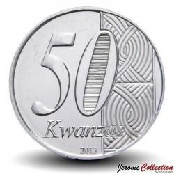 ANGOLA - PIECE de 50 KWANZAS - Anniversaire de l'indépendance - 2015 Km#112