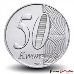 ANGOLA - PIECE de 50 KWANZAS - Anniversaire de l'indépendance - 2015