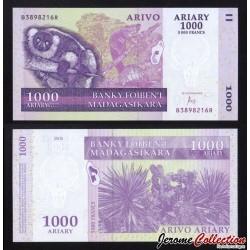 MADAGASCAR - Billet de 1000 Ariary / 5000 Francs - 2015 P89c
