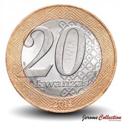 ANGOLA - PIECE de 20 KWANZAS - Reine Nzinga du Ndongo et du Matamba - 2011