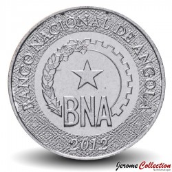 ANGOLA - PIECE de 50 Centimos - Logo de la Banque nationale d'Angola - 2012 Km#107