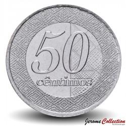 ANGOLA - PIECE de 50 Centimos - Logo de la Banque nationale d'Angola - 2012