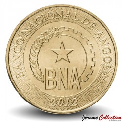 ANGOLA - PIECE de 1 Kwanza- Logo de la Banque nationale d'Angola - 2012 Km#108