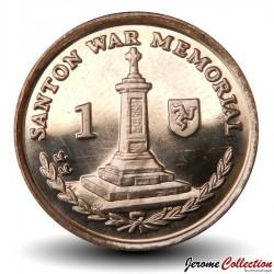 ILE DE MAN - PIECE de 1 Pence - Mémorial de guerre de Santon - 2009 Km#1253