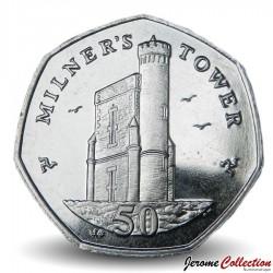 ILE DE MAN - PIECE de 50 Pence - Milner's Tower - 2009