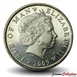 ILE DE MAN - PIECE de 1 Pound - Colline de Tynwald et chapelle Saint-Jean - 2009