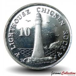 ILE DE MAN - PIECE de 10 Pence - Phare de Chicken Rock - 2009