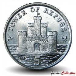 ILE DE MAN - PIECE de 5 Pence - Tour du refuge - 2009 Km#1255