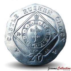 ILE DE MAN - PIECE de 20 Pence - Horloge du château de Rushen - 2009