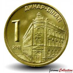 SERBIE - PIECE de 1 Dinar - Banque Nationale de Serbie - 2018 Km#54