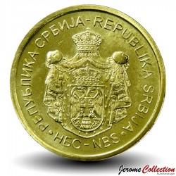 SERBIE - PIECE de 1 Dinar - Banque Nationale de Serbie - 2018