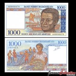 MADAGASCAR - Billet de 1000 Francs / 200 Ariary - 1995