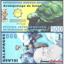 GALAPAGOS - Billet de 500 Nouveaux Sucres - Tortue - 05.10.2010