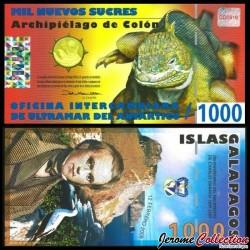 GALAPAGOS - Billet de 1000 Nouveaux Sucres - Dragon - 12.02.2009