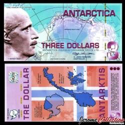ANTARCTICA - Billet de 3 DOLLARS - Roi Haakon VII de Norvège - 1.3.2007 0003