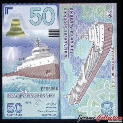 NEW JASON ISLANDS - Billet de 50 Australes - Cargo - 2012 0050