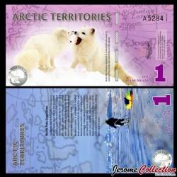 Arctic Territories - Billet de 1 POLAR Dollar - Renard polaire - 2012 0001