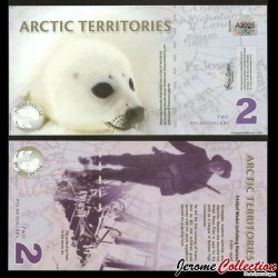 Arctic Territories - Billet de 2 POLAR Dollar - Phoque Polaire / Fridtjof Nansen- 2010