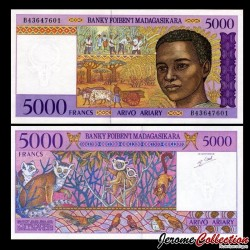 MADAGASCAR - Billet de 5000 Francs - 1995