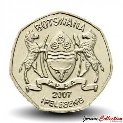 BOTSWANA - PIECE de 1 Pula - Zèbre - 2007