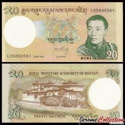 BHOUTAN - Billet de 20 Ngultrum 2013